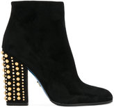 Loriblu studded heel boots - women - Leather/Suede/rubber - 36