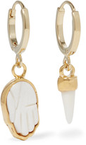 Isabel Marant Gold-tone Bone Earrings - one size