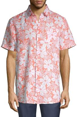 Saks Fifth Avenue Floral Linen Button-Down Shirt