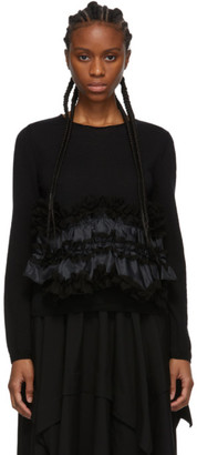 Comme des Garcons Black Ruffle Bottom Crewneck Sweater