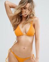 Minimale Animale Rib Triangle Bikini Top