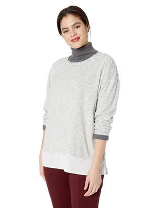Ruby Rd. Women's Plus Size 3/4 Sleeve Georgette top
