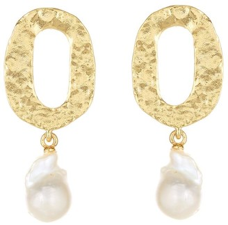 Oscar de la Renta Hammered Hoop Earrings