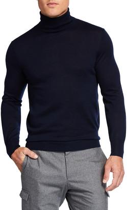Neiman Marcus Men's Cashmere-Silk Turtleneck Sweater