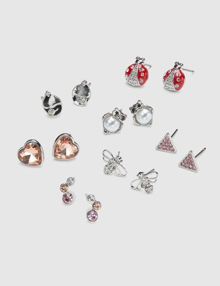 Lane Bryant Stud Earrings - 7-Pack - Owl & Faceted Stones