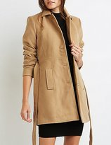 Charlotte Russe Wool Blend Belted Trench Coat