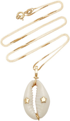 Hirsch Aron 18K Gold Circus Star Pendant Necklace