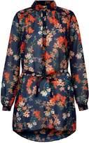 Yumi Blossom Printed Belt Shirt