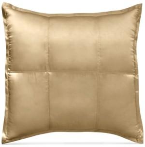 Donna Karan Closeout! Home Reflection Gold Dust Quilted Silk European Sham Bedding