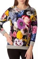 Pietro Brunelli Women's 'Ocean' Floral Print Quilted Maternity Sweatshirt