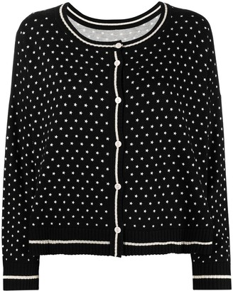 Twin-Set Polka-Dot Knitted Cardigan