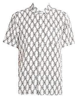 Neil Barrett Men's Monogram Print Shirt