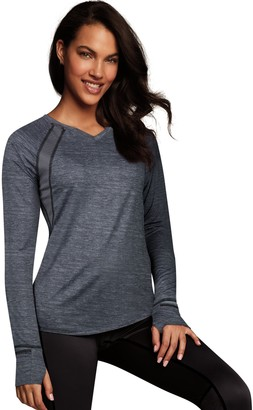 Maidenform Women's Sport Baselayer Active V-Neck Top