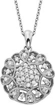 Vera Wang Simply Vera Sterling Silver 1/2-ct. T.W. Diamond Flower Pendant