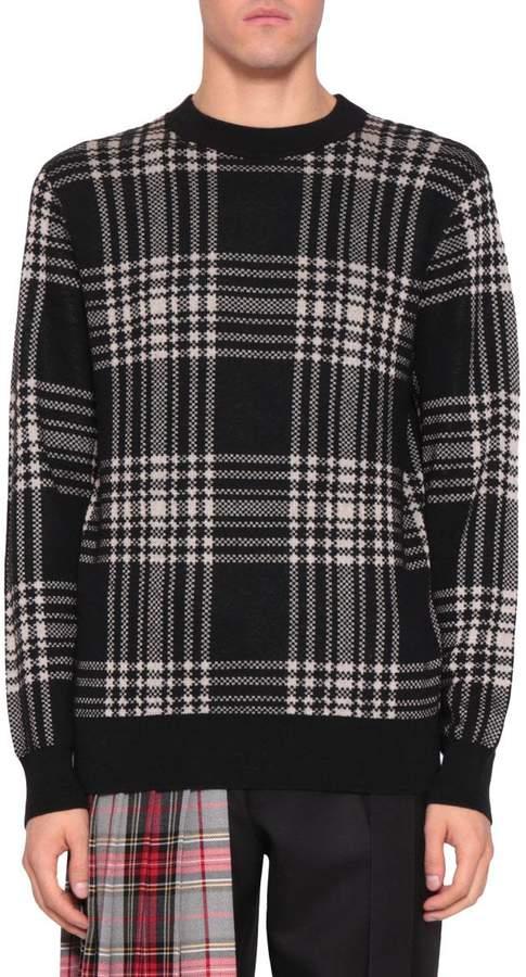Dries Van Noten Mohair Blend Check Sweater