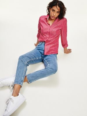 Tommy Hilfiger Gramercy Mom Fit High Rise Tapered Jeans
