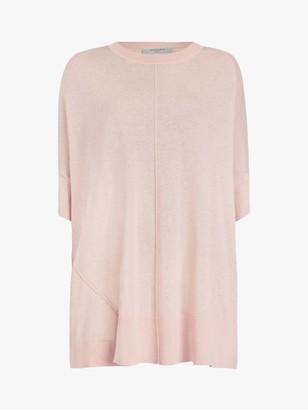 AllSaints Della Linen Blend Top, Shell Pink