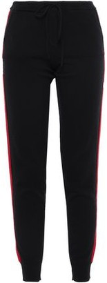 Chinti and Parker Striped Intarsia Cashmere And Wool-blend Track Pants