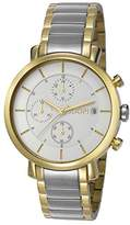 JOOP! Joop Emma Women's Quartz Watch with White Dial Chronograph Display and Multicolour Stainless Steel Bracelet JP101772005