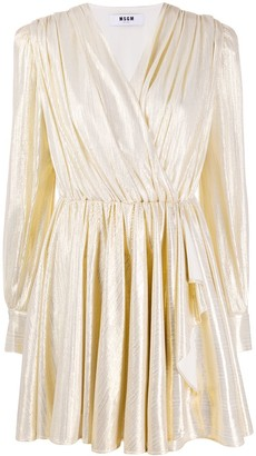 MSGM Metallic Short Dress
