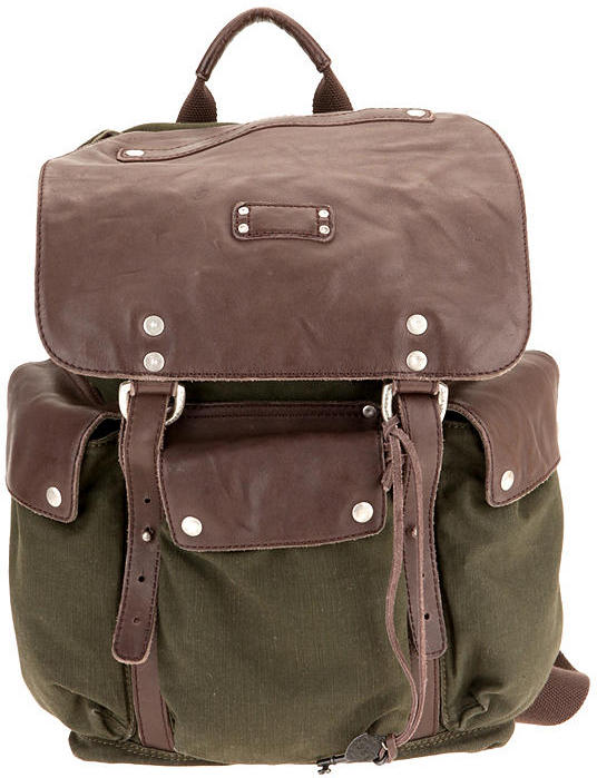 Urban Outfitters Will Canvas and Leather Surplus Backpack