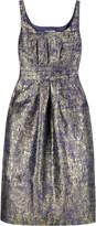 Metallic print dress