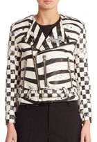 Marc Jacobs Zebra Moto Jacket