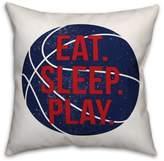 "Designs Direct ""Eat, Play, Sleep"" Basketball Throw Pillow"