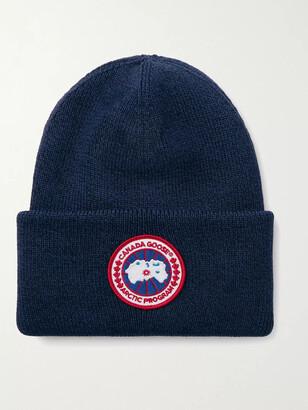 Canada Goose Logo-Appliqued Merino Wool Beanie