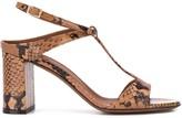 L'Autre Chose snakeskin 90mm heeled sandals