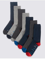 M&S Collection 7 Pairs of Cool & FreshfeetTM Socks