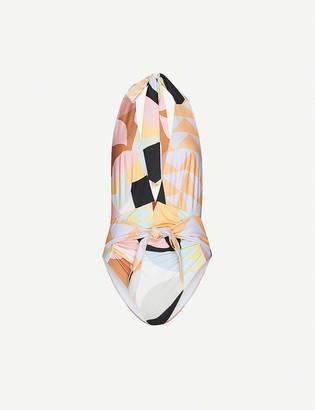 Self-Portrait Abstract-geometric pattern swimsuit