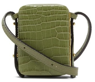 Lutz Morris Norman Mini Crocodile-effect Leather Bag - Khaki