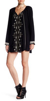 En Creme Long Sleeve Embroidered Tunic Dress
