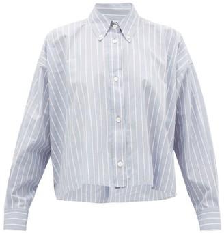 Isabel Marant Macao Striped Slubbed Cotton-poplin Shirt - Light Blue