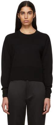 Cédric Charlier Black Asymmetric Sweater