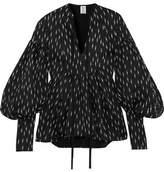 Rosie Assoulin Swash Buckler Tweed Top - Black