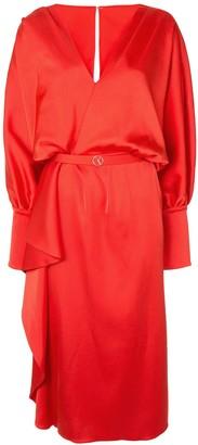 Saiid Kobeisy V-neck billowing sleeves dress