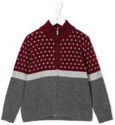Il Gufo intarsia knit zipped cardigan