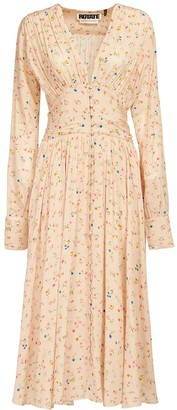 Rotate by Birger Christensen Tracy Floral Print Viscose Midi Dress
