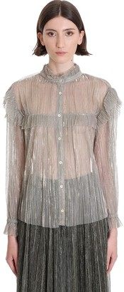 Etoile Isabel Marant Elmirae Shirt In Beige Polyester