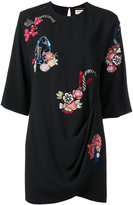 Saint Laurent floral embroidered dress