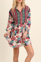 Umgee USA Berry Bohemian Dress