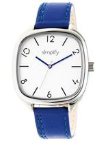 Simplify The 3500 Collection SIM3503 Square-Shaped Silver Analog Watch