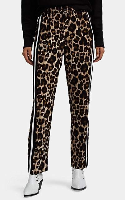 Robert Rodriguez Women's Leopard Crepe Track Pants