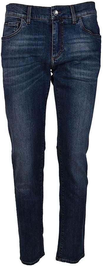 Dolce & Gabbana Blauw Stretch Jeans