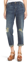 BP Destroyed Crop Boyfriend Jeans (Juniors)