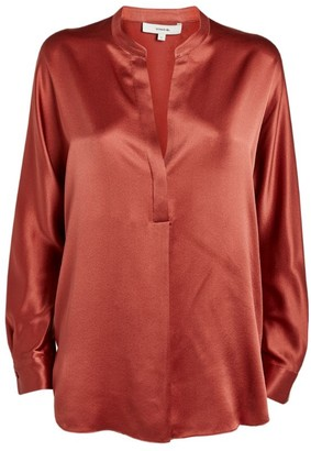Vince Silk V-Neck Blouse