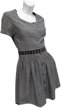 Antipodium Grey Cotton Dress for Women