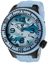 Swiss Legend Men's Neptune (52 mm) Light Blue Camouflage Dial Light Blue Silicone SL-11852C-BB-012 Watch